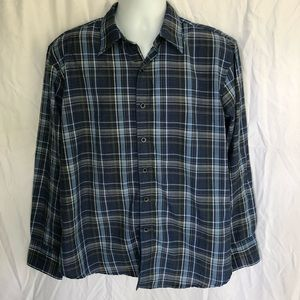Bruno Button Down - Blue Checkered - Men's L